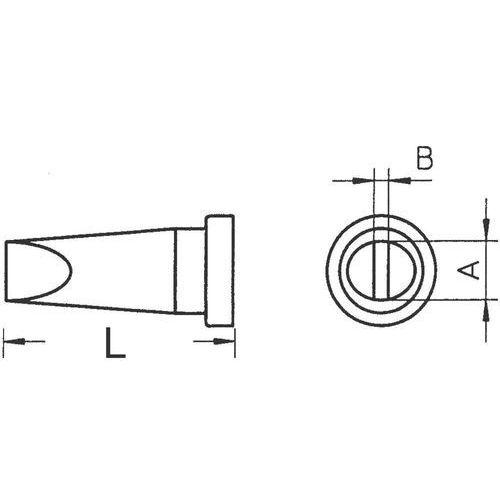 Weller Grot lutowniczy  lt-h, t0054443799 kształt dłuta, prosty, 0.8 mm, 1 szt.