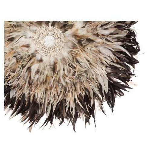 Beliani Dekoracja ścienna z muszelkami jasnobrązowa Ø60 cm juju