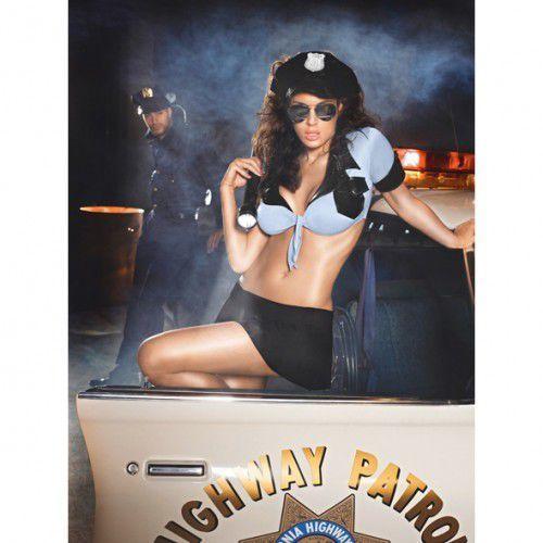 Przebranie policjantki - Baci Highway Patrol Set One Size, BC013A