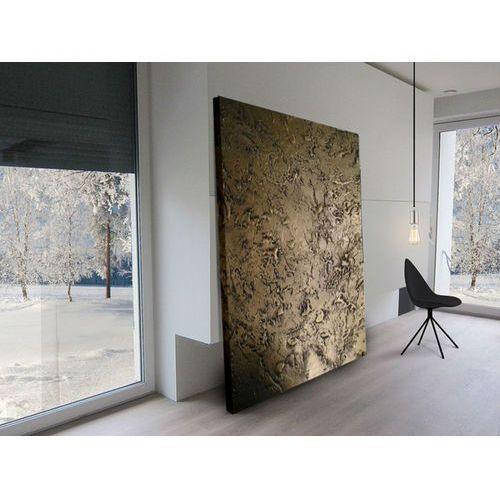 Bardzo duży złoty obraz strukturalny na płótnie