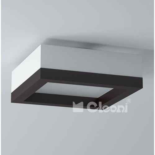 Plafon amur 40 3x60w e27 czarny mat żarówki led gratis!, 1306p41e116+ marki Cleoni