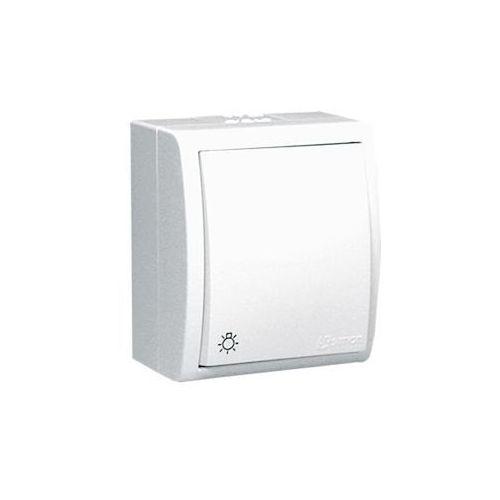 Kontakt simon Aquarius - Przycisk światło natynkowy IP54 biały AQS1/11