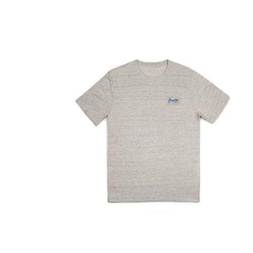 koszulka BRIXTON - Jolt S/S Prem Tee Heather Stone/Yellow (HSNYL) rozmiar: L