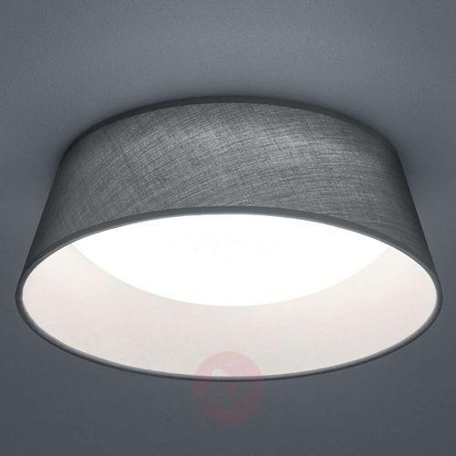 Trio Natynkowa lampa sufitowa ponts r62871211 okrągła oprawa abażurowa led 14w plafon szary (4017807384710)