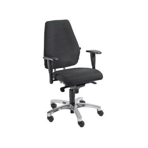 Krzesło dla operatora, mechanizm punktowo - synchroniczny, siedzisko płaskie z p marki Topstar