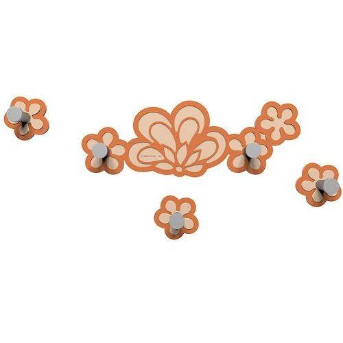 Wieszak ścienny merletto terakota / pomarańczowy (56-13-1-24) marki Calleadesign