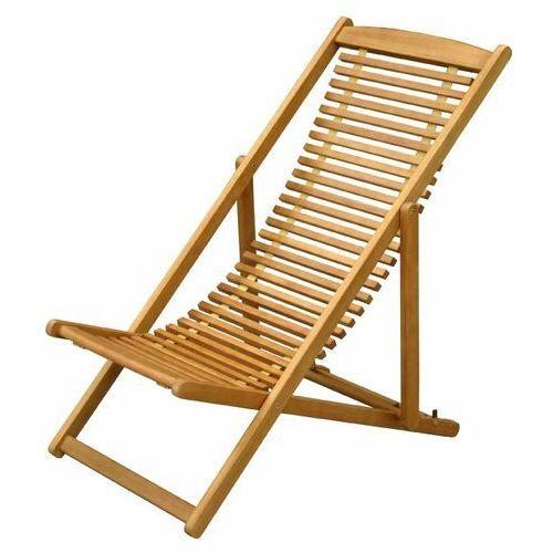 Leżak składany drewniany marki Goodhome