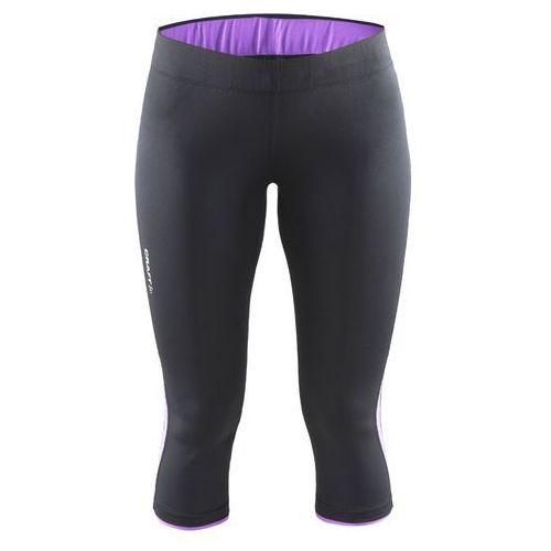 CRAFT Prime Capri - damskie spodnie 3/4 (czarno-fioletowy)
