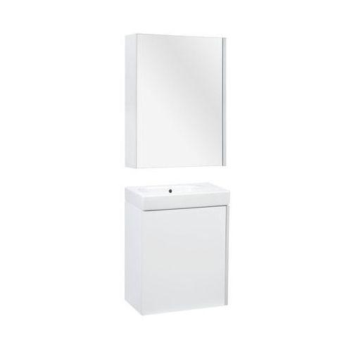 Roca Zestaw szafka z umywalką i szafka lustrzana mini (8414329939309)