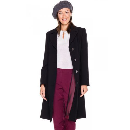 Klasyczny płaszcz w kolorze czarnym -  marki Vito vergelis