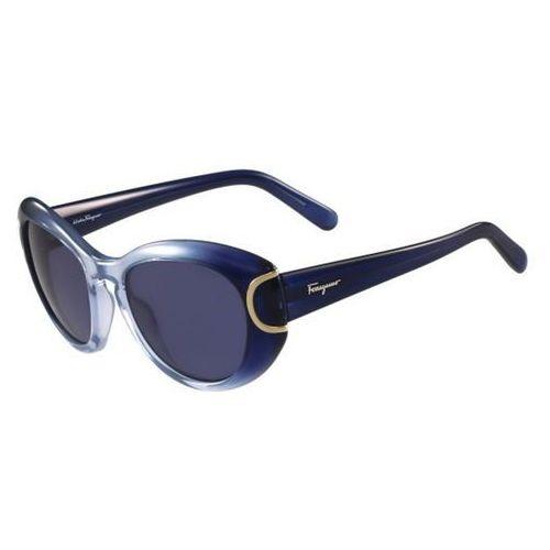 Okulary Słoneczne Salvatore Ferragamo SF 818S 450, kolor żółty