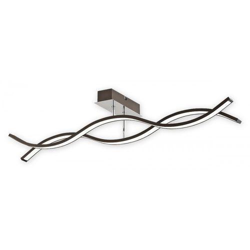 Lemir Linea LED O2512 P2 RW + PILOT plafon lampa sufitowa 2x14,4W LED 4000K rdza wenge / chrom (5902082865551)
