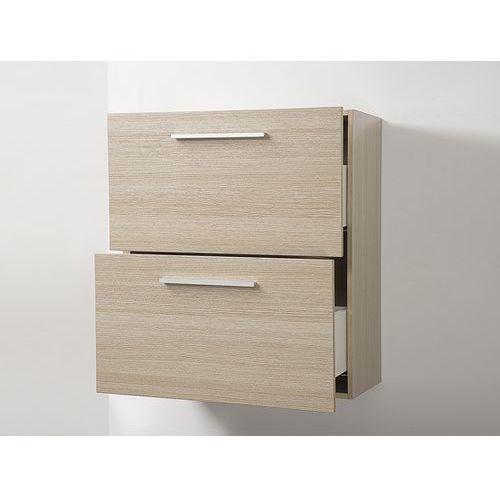 Meble łazienkowe - szafka wisząca łazienkowa beżowa - murcia, marki Beliani
