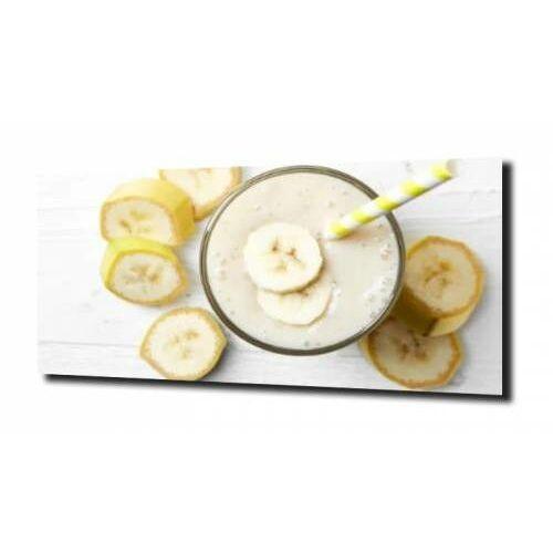 Zahartowani.pl Obraz na szkle, panel szklany banan koktajl 120x60