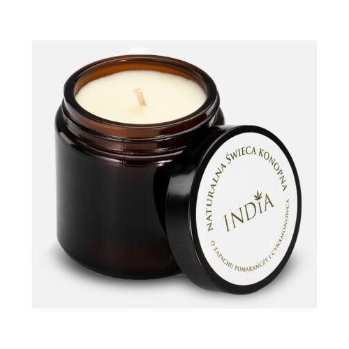 świeczka konopna 90g marki India cosmetics