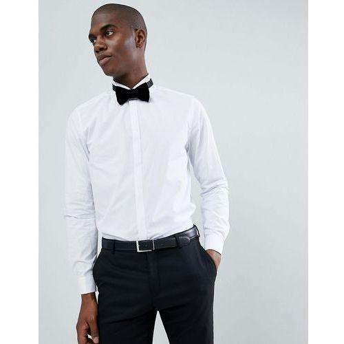 Burton Menswear Slim Fit Shirt With Wing Collar In White - White