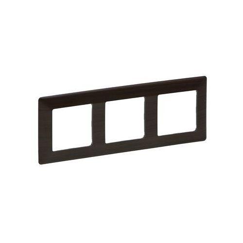 754173 - ramka dla przełączników valena life 3p ciemne drewno marki Legrand