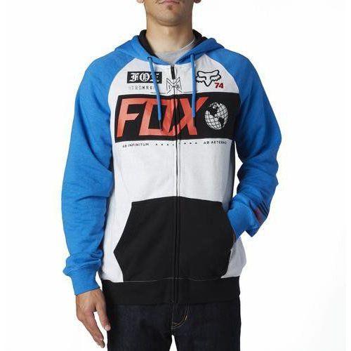 Bluza z kapturem na zamek maneuver heather blue marki Fox