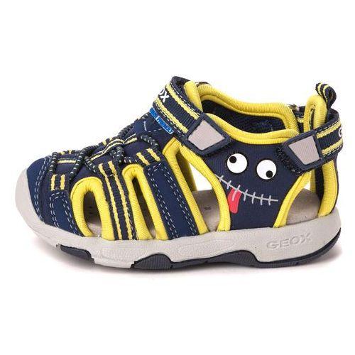 Geox MULTY Sandały navy/yellow, kolor niebieski