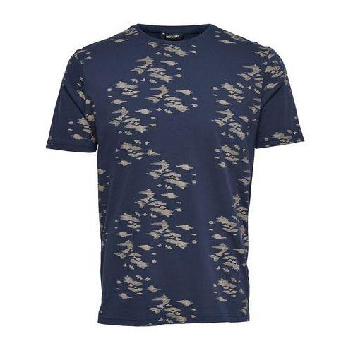 T-shirt z okrągłym dekoltem i żakardowym nadrukiem marki Only & sons