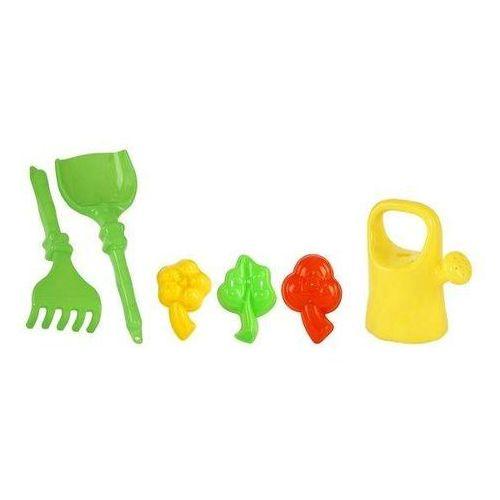 Konewka, foremki, grabki, łopatka zabawka dla dzieci
