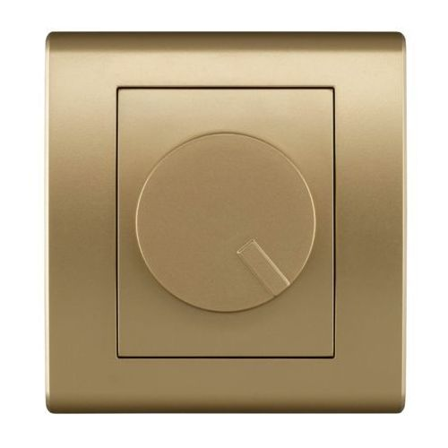 Elektro Plast Catrin - Ściemniacz obrotowy 400W złoty - 2117-15