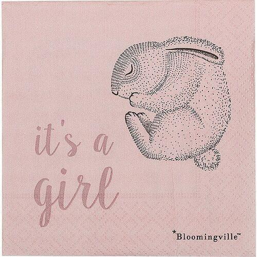 Serwetki z królikiem Bloomingville Mini 20 szt. It's a girl, 31000703