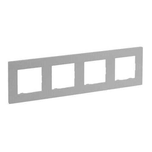 Ramka poczwórna Legrand Niloe Step aluminium, 863394