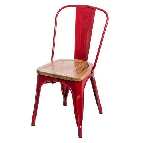 Krzesło Paris Wood jesion - czerwone, d2-5168