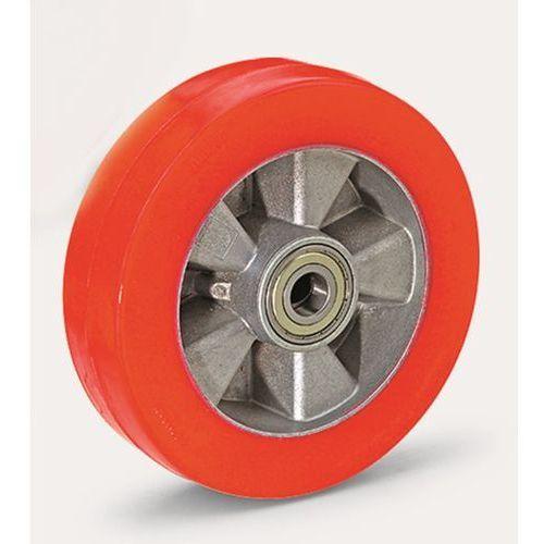 Ogumienie z poliuretanu, czerwone, na feldze aluminiowej, łożysko kulkowe, Ø x s