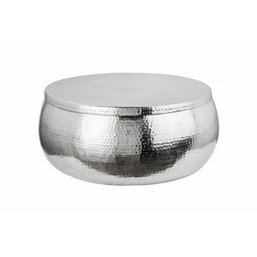 INVICTA stolik kawowy ORIENT STORAGE - 70cm, aluminum, metal, srebrny