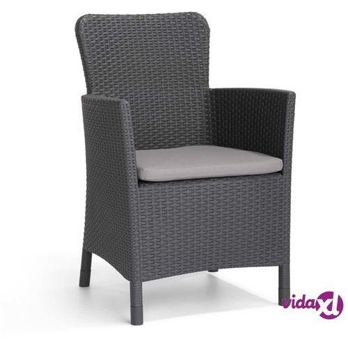 Allibert krzesło ogrodowe miami, grafitowe, 216835 (8711245120652)