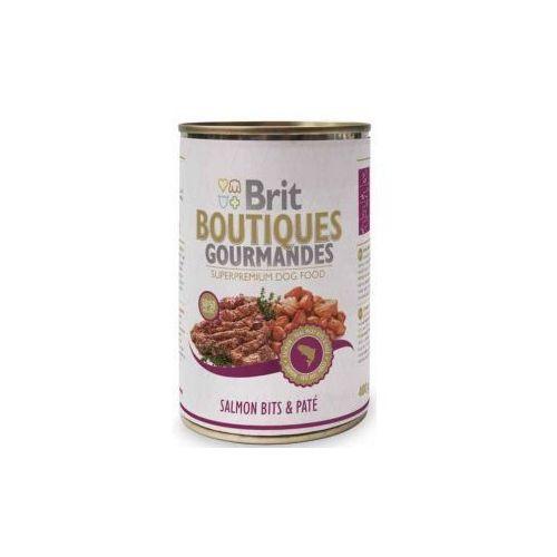 Brit  dog bits & pate - pasztet z kawałkami łososia 400g