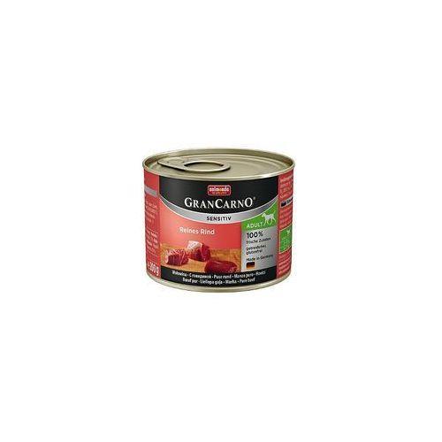 grancarno sensitiv wołowina 200g - lekkostrawna karma dla psów wrażliwych - zestaw 24szt. [dostawa od 8,59zł, firma rodzinna] marki Animonda