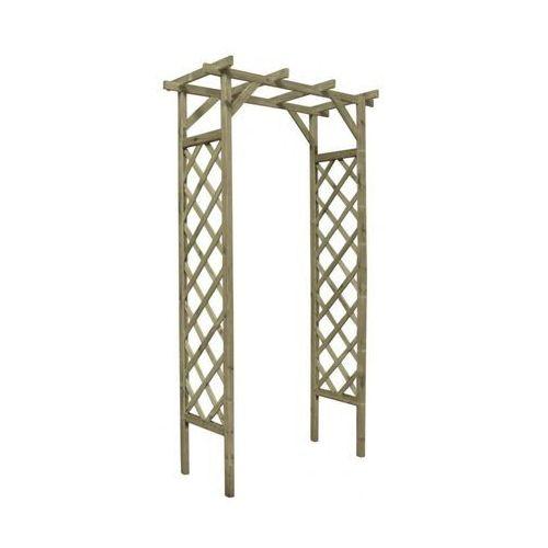 Pergola ogrodowa 120 x 60 x 212 cm drewniana STELMET (5900886366670)