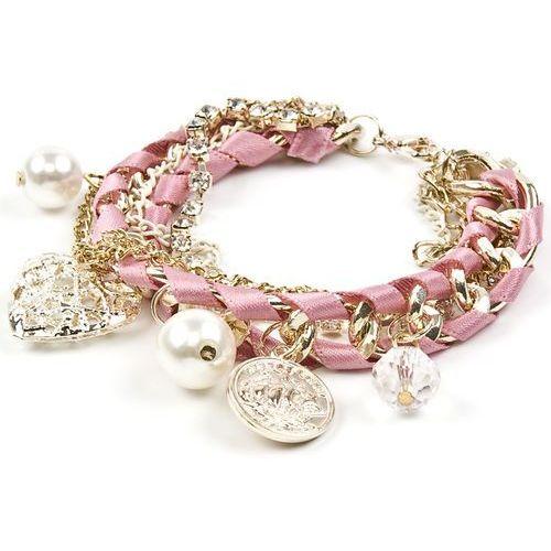 Bransoletka charmsy pink heart - bransoletka charmsy pink heart marki Cloe