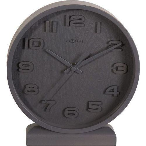 - zegar stojący wood wood small - szary marki Nextime