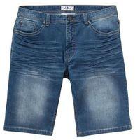 Bermudy dresowe w optyce dżinsu regular fit niebieski, Bonprix