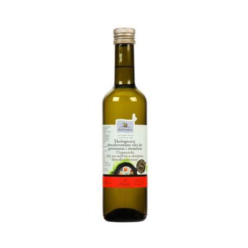 500ml ekologiczny olej słonecznikowy do gotowania i smażenia bio marki Bio planete