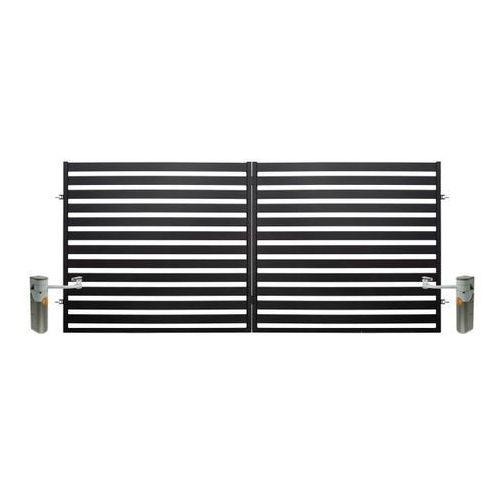 Polbram steel group Brama dwuskrzydłowa lara automatyczna 3,5 x 1,54 m czarna (5901122310440)