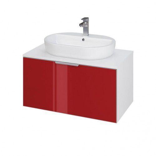 CERSANIT szafka Stillo 80 biała/czerwona pod umywalkę nablatową S575-005, S575-005