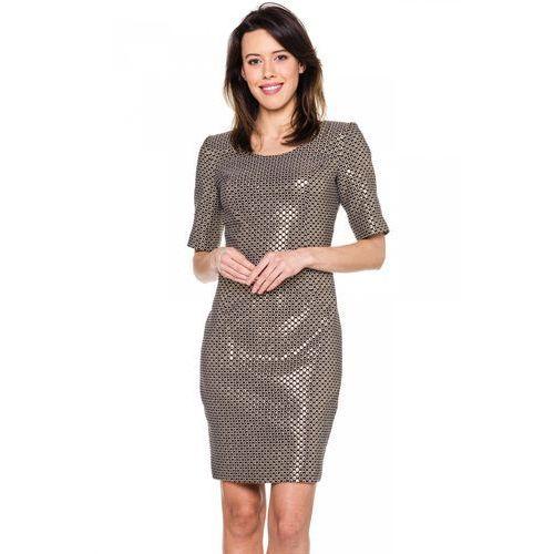 Sukienka w złote kółeczka - Carmell