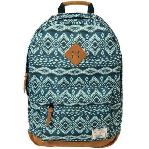 Plecak 18x32xH46 27L niebieski wzorki, kolor niebieski