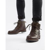 River Island heavy sole boot in brown - Brown
