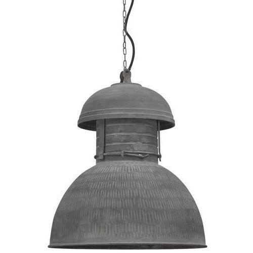 :: przemysłowa lampa okrągła rustykalna rozm. l - szary marki Hk living