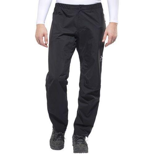 l.i.m iii spodnie długie mężczyźni czarny xs 2018 spodnie przeciwdeszczowe marki Haglöfs