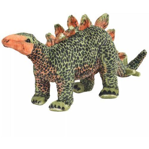vidaXL Pluszowy stegozaur, stojący, zielono-pomarańczowy, XXL (8718475565895)