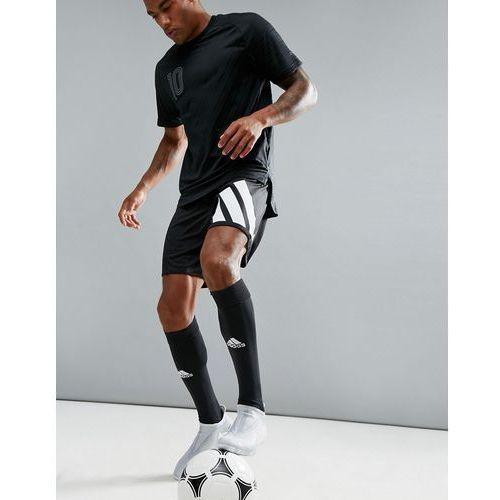 Adidas football training shorts with 90s print in black az9711 - black