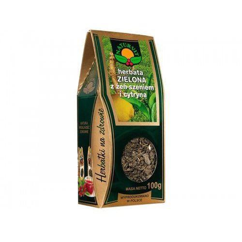 herbata zielona z żeńszeniem i cytryną 100g pudełko marki Natura-wita