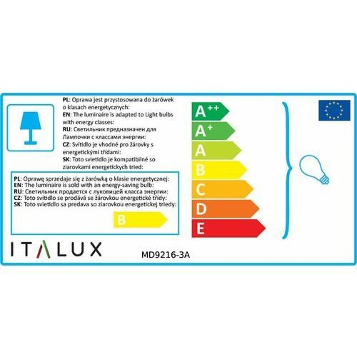 Italux Lampa wisząca cubric md9216-3a halogenowa oprawa szklana zwis listwa sufitowa kostki box cube białe przezroczyste